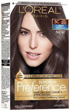 L'Oréal® Paris Superior Preference® Cools Anti-Brass 5C Cool Medium Brown Hair Color 1 Kit Box