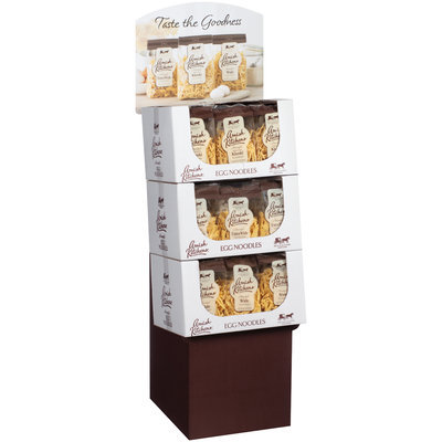 Amish Kitchens® Wide/Extra Wide/Kluski Egg Noodles 36-12 oz. Corrugated Display