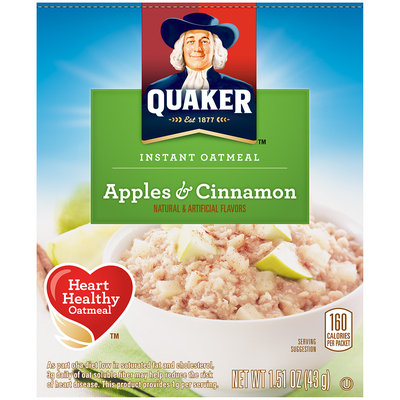 Quaker™ Apples & Cinnamon Instant Oatmeal