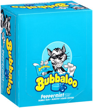 Bubbaloo® Peppermint Burstin' Liquid Center Bubble Gum 60 Piece Box