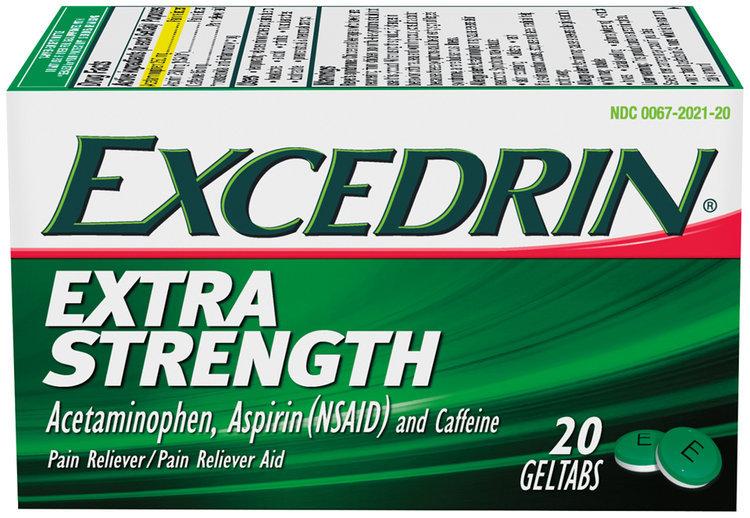 Excedrin Extra Strength Acetaminophen Aspirin Nsaid And Caffeine
