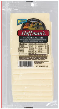 Hoffman's Horseradish Cheese Slices 10 Ct Peg