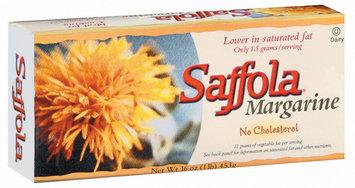 Saffola Stick No Cholesterol Margarine 16 Oz Box