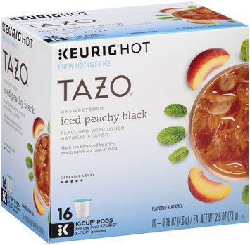 Tazo® Keurig® Hot Unsweetened Iced Peachy Black Tea 16 ct Box