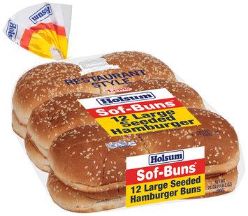 Holsum® Sof-Buns® Sliced Enriched Hamburger Buns 21 oz. Pack