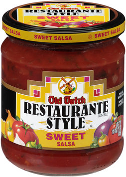 Old Dutch® Restaurante Style Sweet Salsa 16 oz. Jar