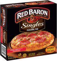 Red Baron® Singles Personal Pan Pizza Meat Trio 10.29 oz Box