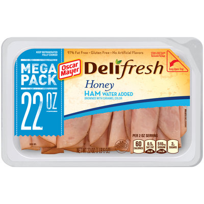 Oscar Mayer Deli Fresh Honey Ham Cold Cuts 22 oz. Tub