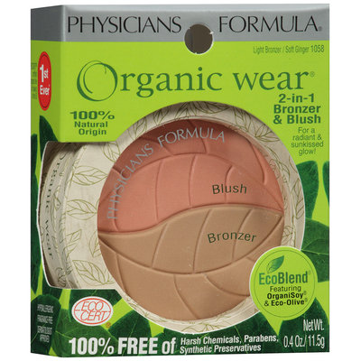 Physicians Formula® Organic Wear® Soft Ginger 2-in 1 Bronzer & Blush 0.4 Oz Peg