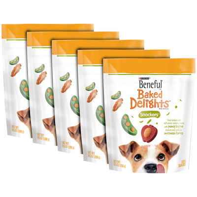 Purina Beneful Baked Delights Snackers Dog Snacks 9.5 oz. Pouch