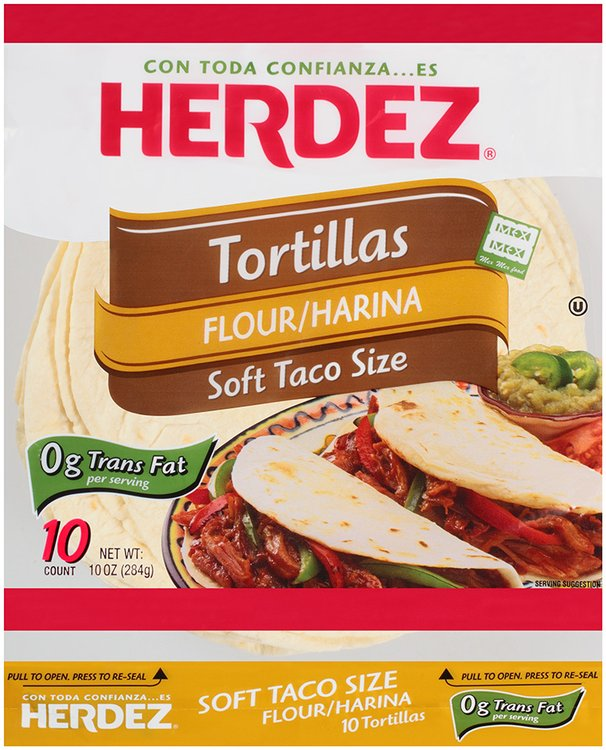 Herdez® Flour Soft Taco Size Tortillas 10 oz. Bag