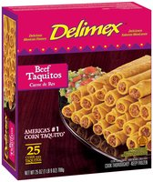 Delimex Beef 25 Ct Taquitos 25 Oz Box