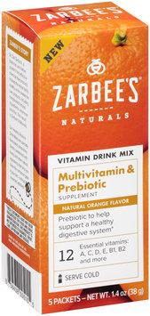 Zarbee's® Naturals Multivitamin & Prebiotic Vitamin Drink Mix Supplement Packets 5 ct Box