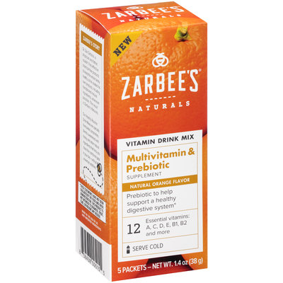 Zarbee's® Naturals Multivitamin & Prebiotic Vitamin Drink Mix Supplement Packets 5 ct Box