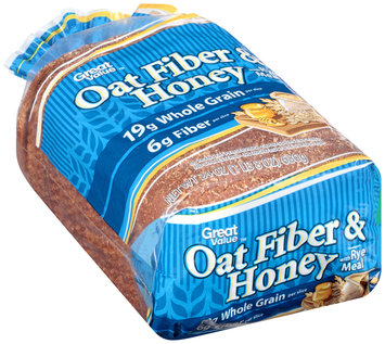 Great Value™ Oat Fiber & Honey with Rye Meal Bread 24 oz. Loaf