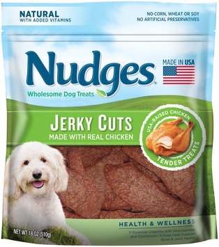 nudges® health and wellness chicken jerky wholesome dog treats