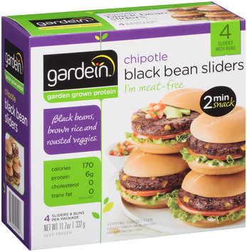 gardein™ Chipotle Black Bean Sliders 4 ct. Box