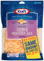 Kraft Shredded Colby & Monterey Jack Cheese 8 oz. ZIP-PAK®