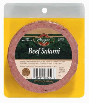 Haggen Beef Salami 16 Oz Peg
