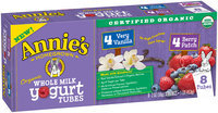 Annie's™ Organic Whole Milk Yogurt Tubes 8-2 oz. Packs