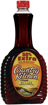 Country Kitchen Butter Flavored 50% Extra Syrup 36 Oz Squeeze Bottle