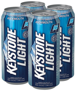 Keystone Light® Beer 4-16 fl. oz. Cans