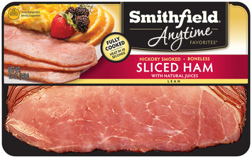 Smithfield® Anytime Favorites™ Hickory Smoked Boneless Sliced Lean Ham 12 oz. Pack