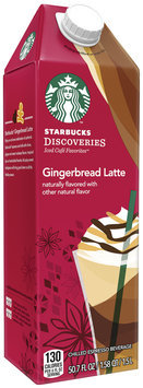 Starbucks Discoveries Gingerbread Latte Chilled Espresso Drink 50.7 fl. oz. Carton