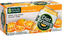 Hansen's Diet Orange Premium Soda 8-12 fl. oz. Cans