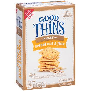 Good Thins Sweet Oat & Flax Snacks 6.5 oz. Box