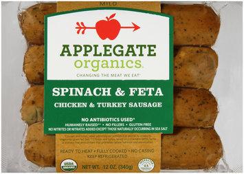 Applegate Organics® Spinach & Feta Mild Chicken & Turkey Sausage 4 ct Pack