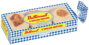 Butternut® Pre-Sliced English Muffins 6 ct Bag