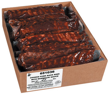 Plumrose Pork Back Ribs Cooked W/Barbecue Sauce Foodservice Ribs 15 Lb Box