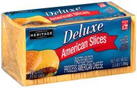 American Heritage® Deluxe Pasteurized Process American Cheese Slices 72-0.667 oz. Pack