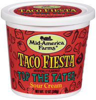 Mid-America Farms® Top the Tater® Taco Fiesta Sour Cream 12 Oz Plastic Tub