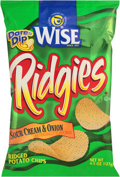 Wise® Ridgies® Sour Cream & Onion Ridged Potato Chips 4.5 oz. Bag