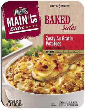 Reser's Fine Foods® Main St. Bistro™ Baked Sides Zesty Au Gratin Potatoes with Bacon & Jalapenos 20 oz. Tray