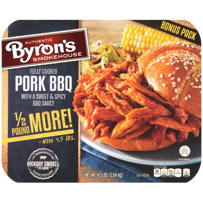 Byron's™ Pork BBQ with a Sweet & Spicy BBQ Sauce 4.5 lbs. Tray