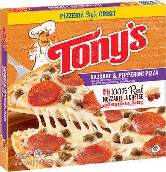 Tony's™ Pizzeria Style Crust Sausage & Pepperoni Pizza 19.38 oz. Box