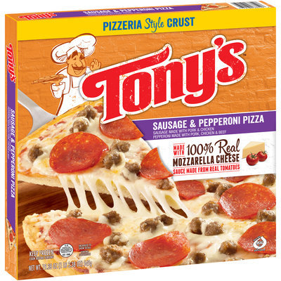Tony's™ Pizzeria Style Crust Sausage & Pepperoni Pizza 19.38 oz. Box