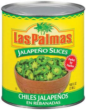 Las Palmas Slices Chiles Jalapenos 100 Oz Can