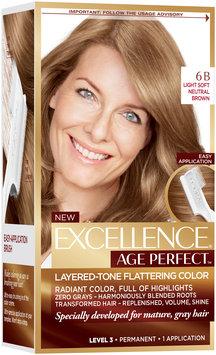 L'Oréal® Paris Excellence® Age Perfect™ Layered-Tone Flattering Color 6B Light Soft Neutral Brown Hair Color Kit