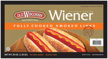 Smoked Cooked 24 Oz Weiners Zipper Pack 21500