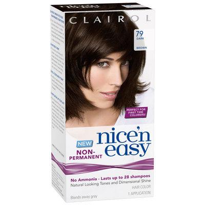 Clairol Nice 'n Easy Non-Permanent  79 Dark Brown Hair Color Kit