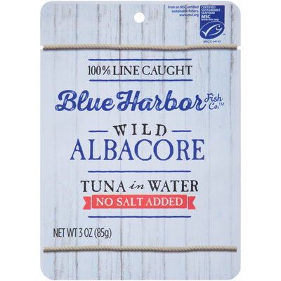 Blue Harbor Fish Co.™ Wild Albacore Tuna in Water No Salt Added 3 oz. Pouch