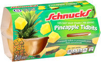 Schnucks® Pineapple Tidbits 4-4 oz. Cups