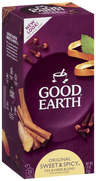 GOOD EARTH Original Sweet & Spicy Tea & Herb Blend Tea Bags 25 CT BOX