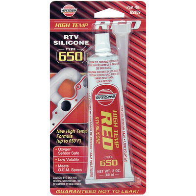 VersaChem® High Temp Red RTV Silicone Type 650 3 oz. Tube
