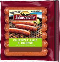 Johnsonville Chipotle Lime & Cheese Smoked Sausage 14oz zip pkg (101408)