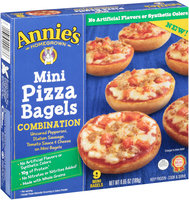 Annie's Homegrown® Combination Mini Pizza Bagels 9 ct Box